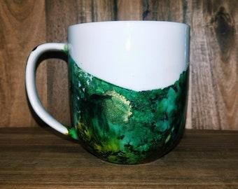 Emerald Mug // Hand painted