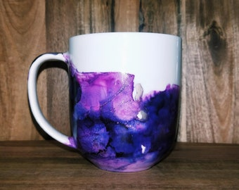 Amethyst Mug // Hand painted