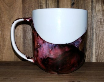 Mulberry & Copper Mug // Hand painted