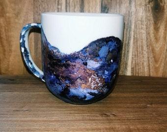 Tanzanite Mug // Hand painted