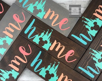 The Original Colorful Disney Inspired Home Sign, Disney Wood Sign, Disney  Home Decor, Home Sweet Home, Office Decor