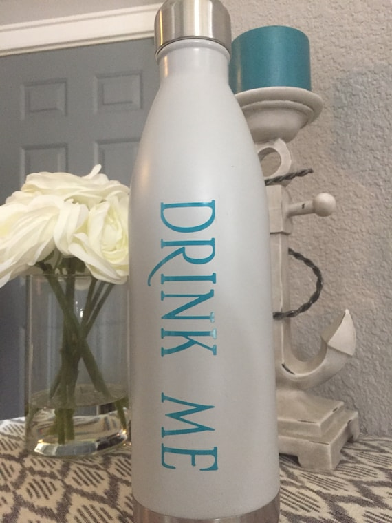 Disney Inspired Drink Me Water Bottle Decal Drink Me Decal