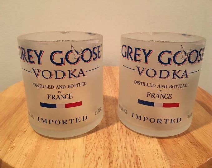 12 Grey Goose Vodka 1 Liter Bottle Rocks Glasses