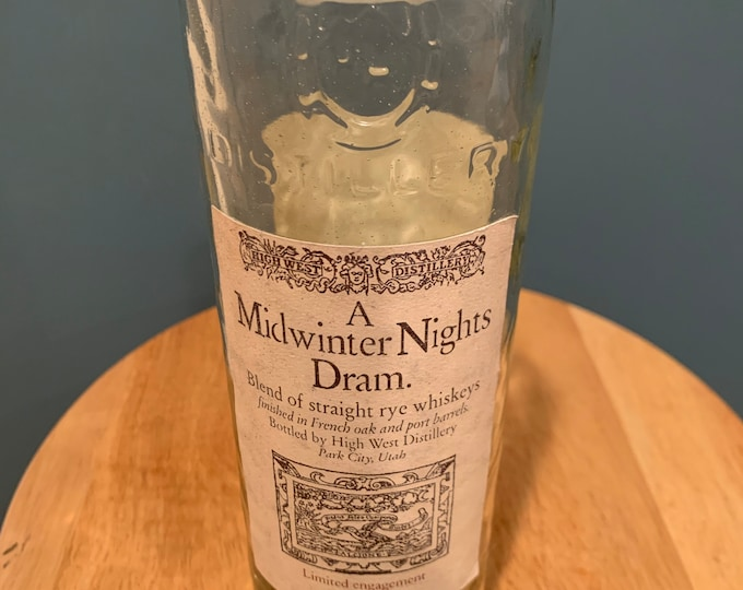 A Midwinter Nights Dram 750ml Bottle Vase - High West Distillery