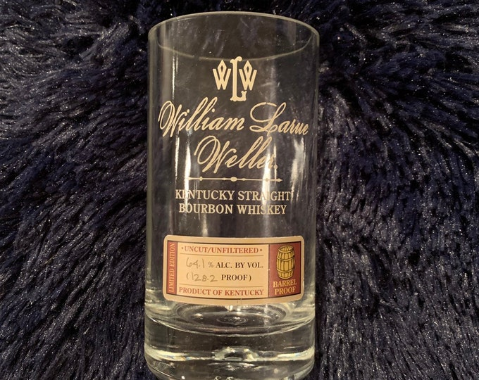 William Larue Weller BTAC Kentucky Straight Bourbon Whiskey Glass made from empty bottle