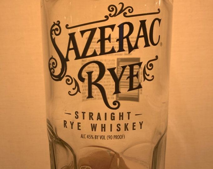 Glass made from Sazerac Straight Rye Whiskey 750ml Bottle