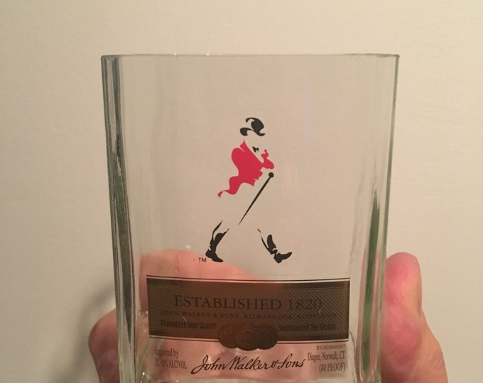 Johnnie Walker Red Label Rocks Glass made from 1 Liter Bottle