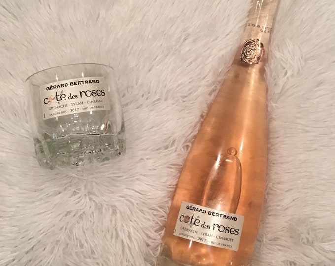 Cotes des Roses Wine Bottle Glass made from Empty 750ml Bottle (1)