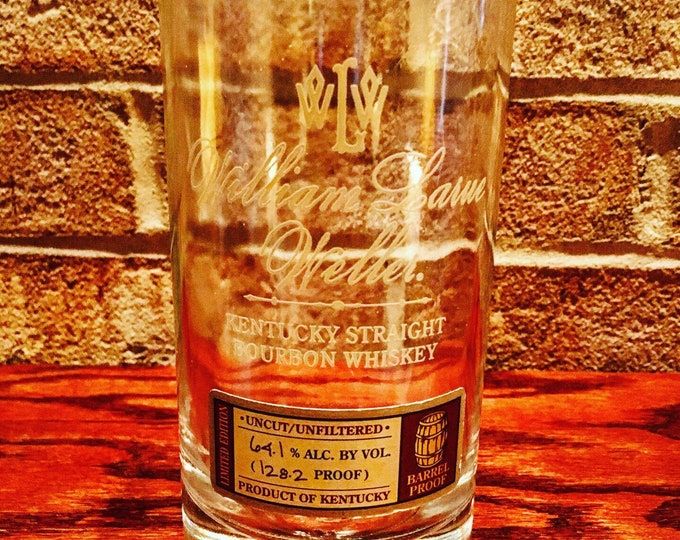 William Larue Weller Whiskey Glass Made From Empty Bottle - Buffalo Trace Distillery