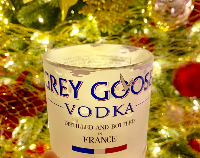 Grey Goose Vodka Rocks Glass from 1 Liter Bottle (1)