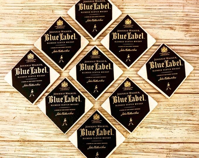 Johnnie Walker Blue Label Whiskey Box Top Coasters (2)