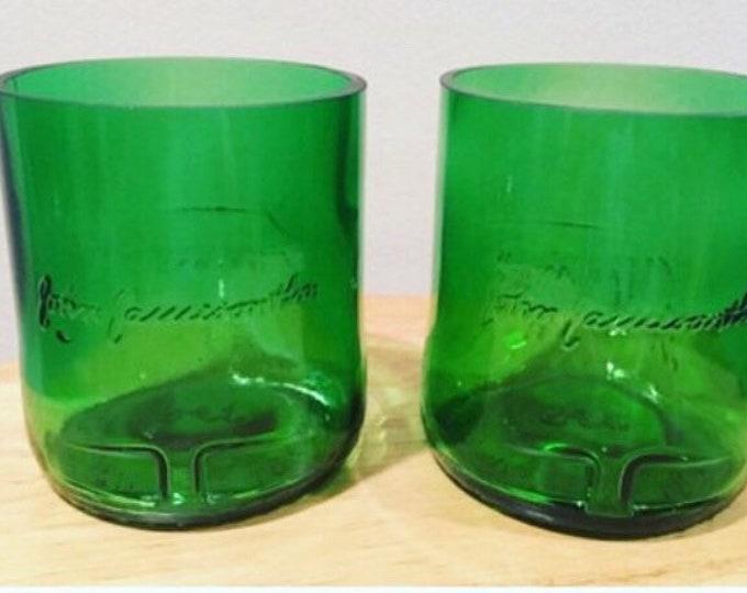 Jameson Whiskey Rocks Glasses (2) made from 1 Liter Bottles