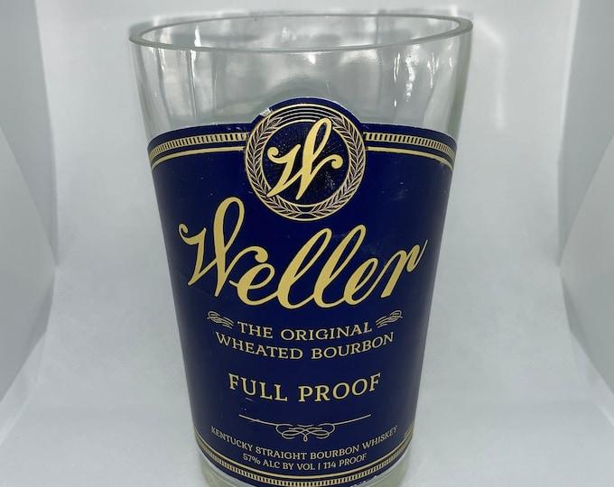 Weller Full Proof Kentucky Straight Whiskey Bourbon Vase made from empty 750ml Bottle