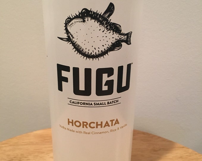 Fugu Horchata Glass made from 750ml Bottle