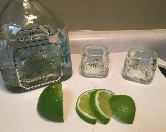 Patron Tequila 50ml Bottle Shot Glasses - Set of 2