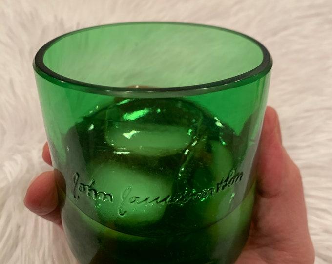 Jameson Whiskey Rocks Glasses (2) made from 1 Liter Empty Bottles
