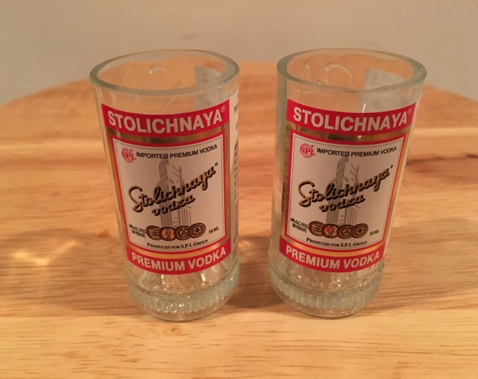 Stolichnaya Vodka 50ml Bottle Shot Glass Set
