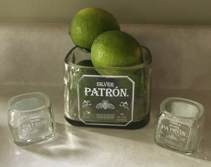Patron Tequilla 750ml Bottle Glass Container