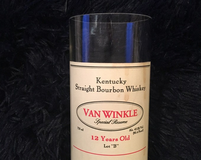 Van Winkle Special Reserve Kentucky Straight Bourbon Whiskey 12 Year Vase - Made from empty 750ml bottle
