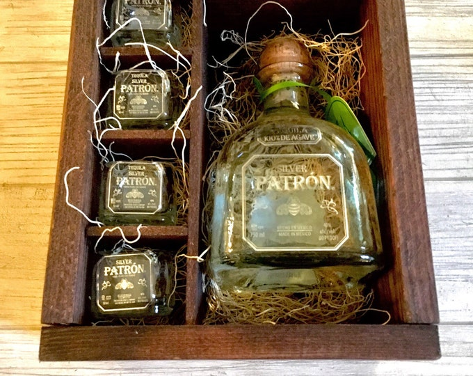 Patron Tequila Shot Glass Gift Set -Full Bottle Not Included