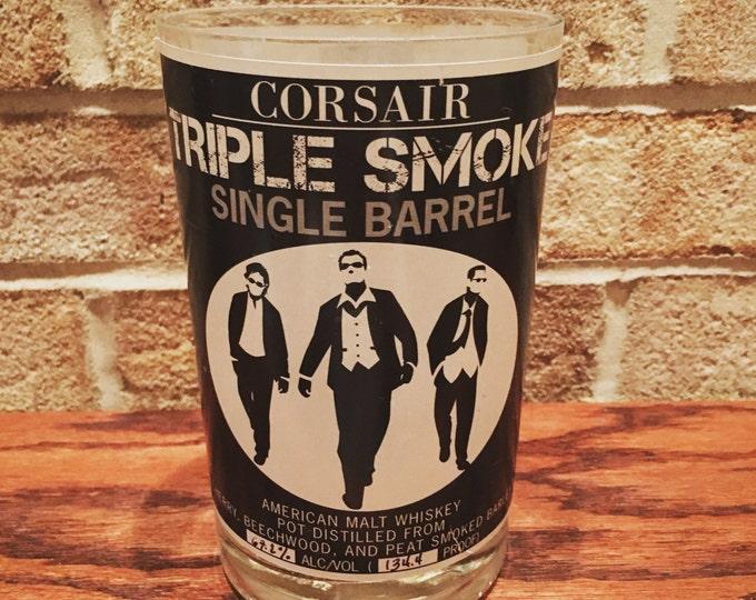 Corsair Triple Smoke Barrel 750ml Whiskey Bottle Glass
