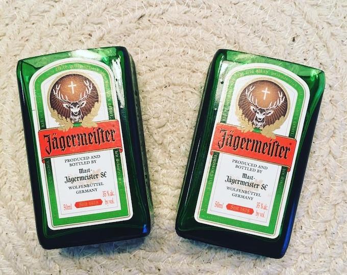 Jagermeister Shot Glasses (2) made from mini 50ml Bottles