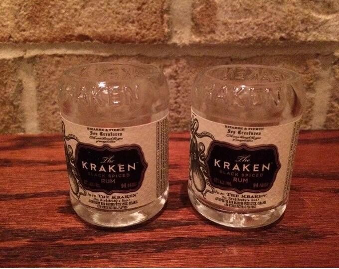 Kraken Rum 50ml Bottle Shot Glasses - Set of 2