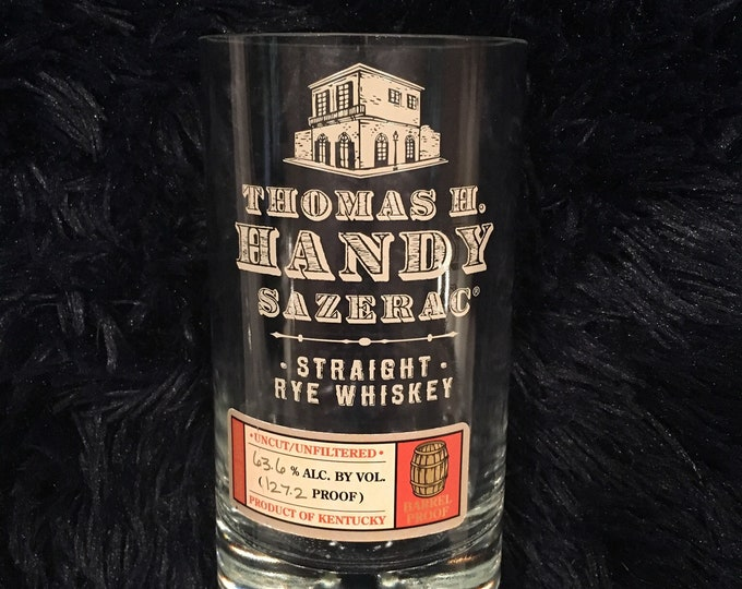 Thomas H. Handy Sazerac Straight Rye Whiskey BTAC Glass - made from empty 750ml bottle