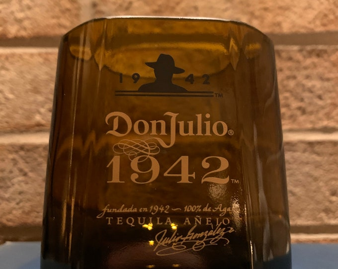 Don Julio 1942 Tequila Rocks Glass made from Empty Bottle