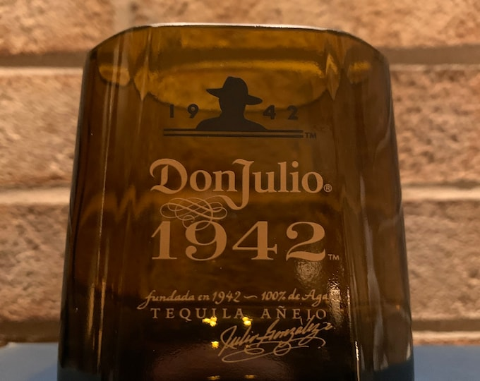 Don Julio 1942 Tequila Rocks Glass made from Empty Bottle (1)