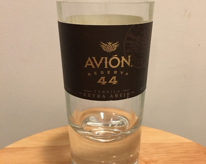Avion Reserva 44 Tequila Glass made from Empty Bottle