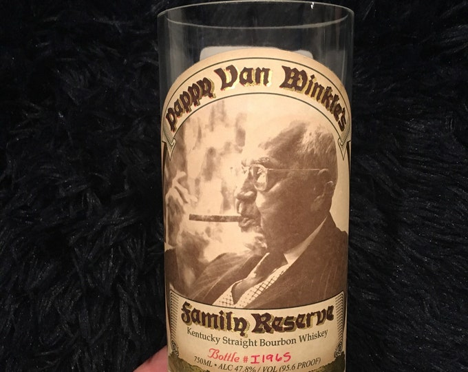 Pappy Van Winkle Family Reserve Kentucky Straight Bourbon Whiskey Vase - Made from empty 750ml bottle