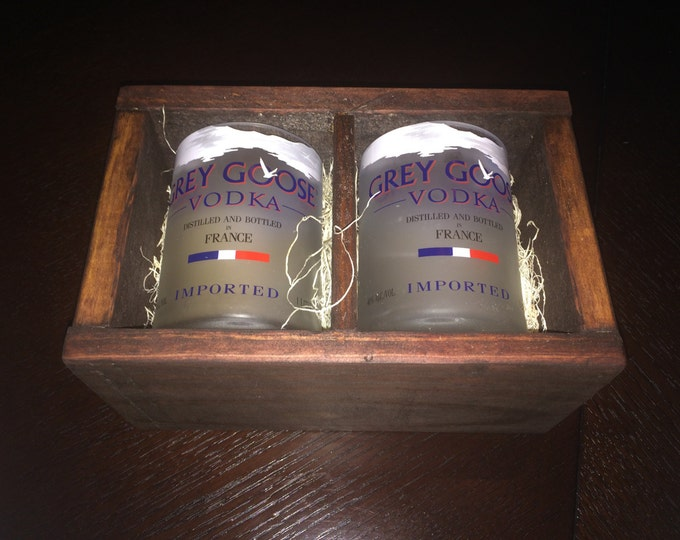 Grey Goose Vodka Rocks Glass Gift Set