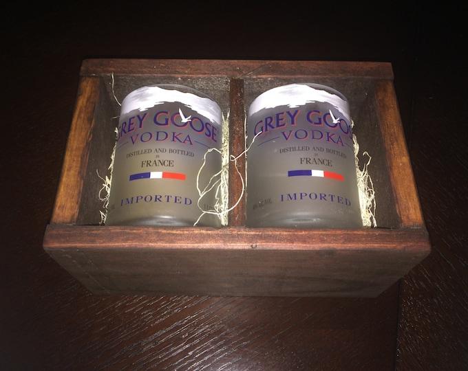 Grey Goose Vodka Rocks Glass Gift Set