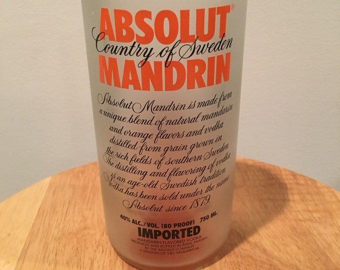 Absolut Mandrin Vodka Glass - Made from Empty 750ml Bottle