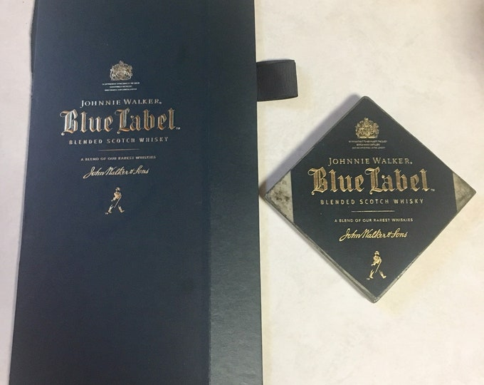 Johnnie Walker Blue Label Whiskey Box Top Coasters (2)