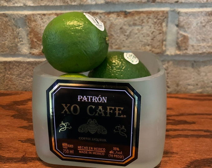 Patron Tequila XO Cafe Candy Dish / Lime Holder - made from 750ml bottle