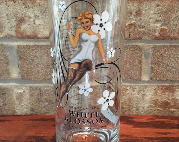 Valentine White Blossom Vodka Glass Made From Empty 750ml Bottle