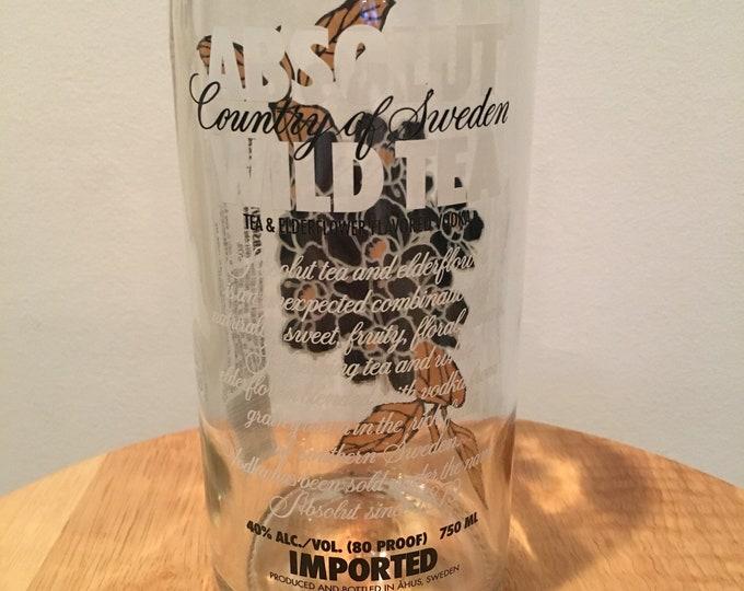 Absolut Wild Tea Vodka Glass - Made From Empty 750ml Bottle