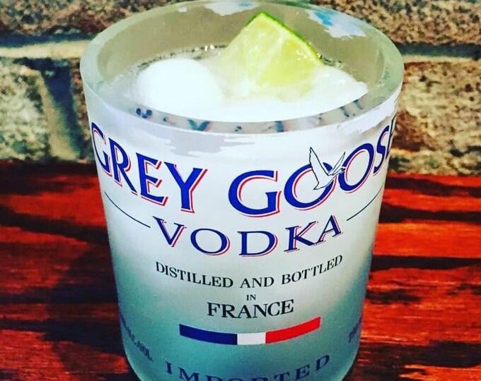 Grey Goose Vodka Rocks Glass - Made From 1 Liter Bottle