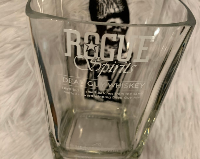 Rogue Spirits Dead Guy Whiskey 750ml Bottle Cut for Candy Dish