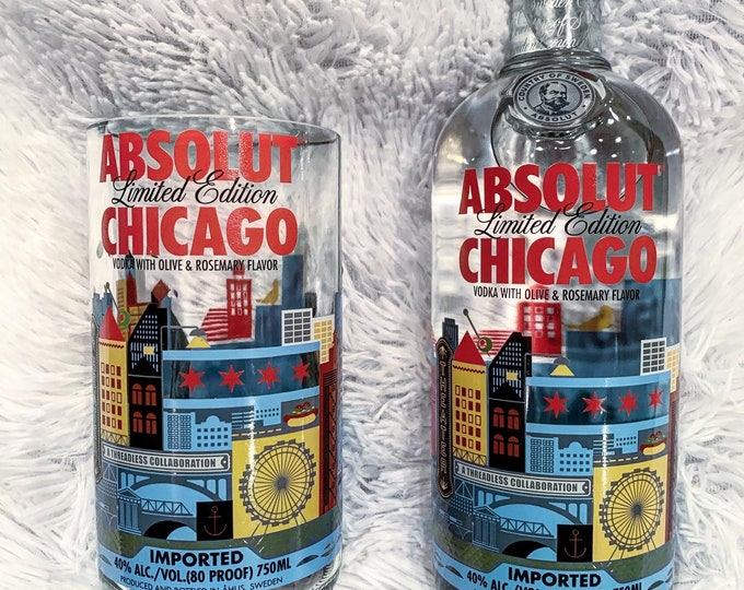 Absolut Chicago Limited Edition 750ml Bottle Glass