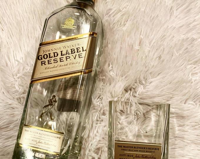 Johnnie Walker Gold Label 750ml Bottle Rocks Glass