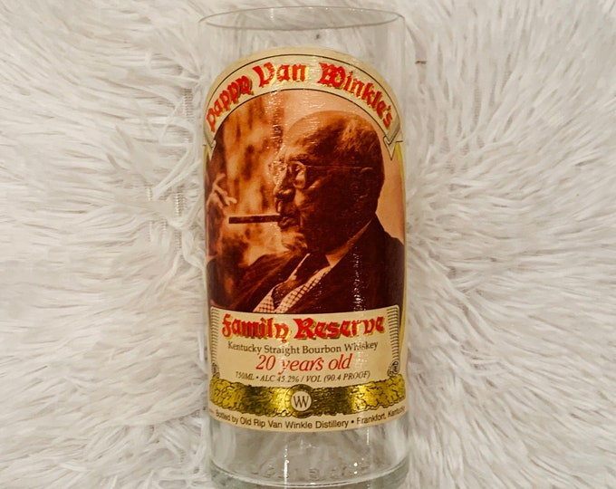 Pappy Van Winkle Family Reserve Kentucky Straight Bourbon Whiskey 20 Year Vase - Made from empty 750ml bottle