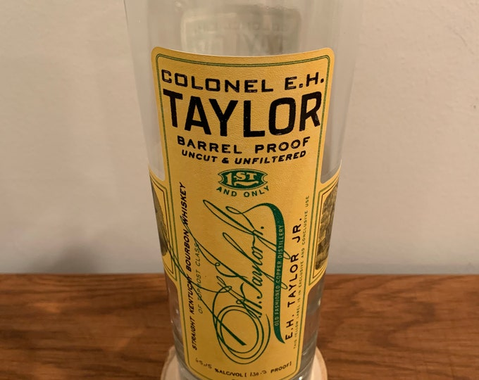 Vase made from Colonel E.H. Taylor Barrel Proof 750ml Bottle