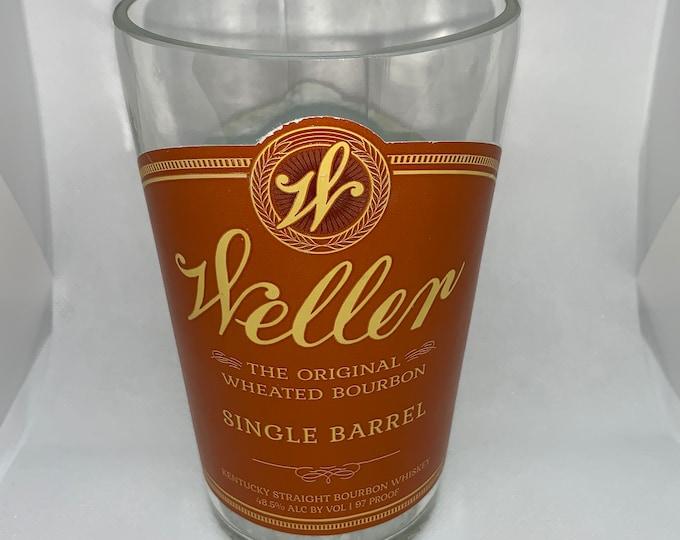 Weller Single Barrel Kentucky Straight Bourbon Whiskey Vase made from EMPTY 750ml Bottle