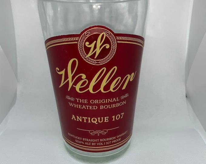 Weller Antique 107 Kentucky Straight Whiskey Bourbon Vase made from empty  Bottle