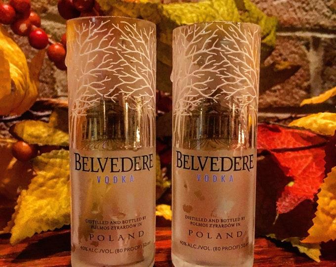 Vodka Shot Glasses made from 50ml Mini Bottles
