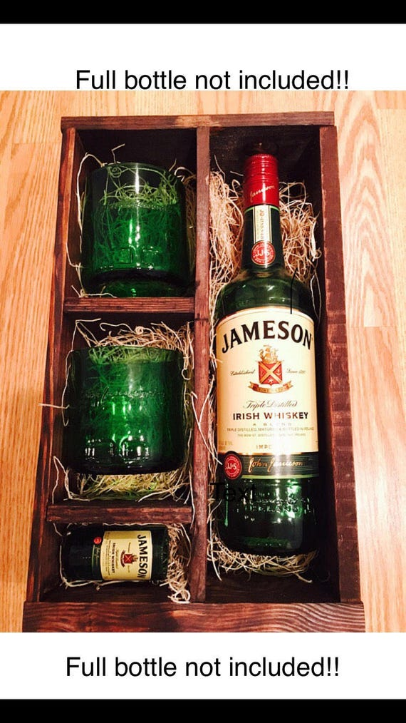 originale abbastanza economico prezzo all'ingrosso Jameson Whiskey Gift Set - (2) Rocks Glasses and (1) Shot Glass made from  Jameson Bottles - Full Bottle Not Included