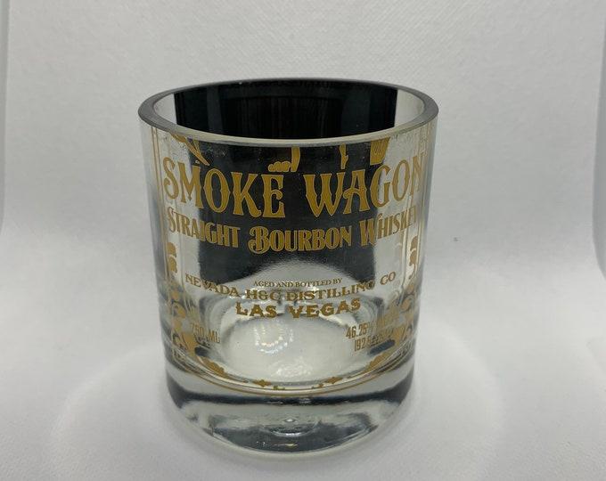 Smokewagon Rocks Glass (1) - Made from empty 750ml bottle